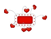 Vector clipart: Frame with flying hearts