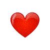 Vector clipart: glow heart