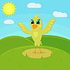 Little cute bird | Stock Vector Graphics