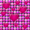 Розовый кучу с сердцем