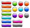 Vector clipart: Stylish shiny buttons