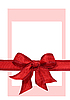 Big red holiday bow | Stock Illustration