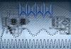 Photo 300 DPI: Tech wavy background