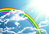 ID 3112997 | Rainbow in clouds | High resolution stock illustration | CLIPARTO