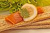 Fillet salmon and lemon   Stock Foto