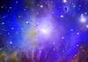 Star-Feldes in Raum und Nebel   Stock Illustration