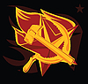 Vector clipart: hammer and sickle