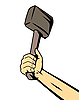 Vector clipart: hand with hammer
