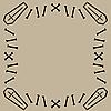 Векторный клипарт: рамка из орнамента с кладбищенскими элементами