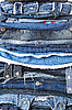Stack of jeans clothes | Stock Foto