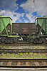 Ferroviarios de mercancías furgonetas | Foto de stock