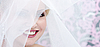 Face of the smiling bride   Stock Foto