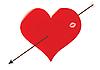 Фото 300 DPI: Сердце пробитая стрелка Амура.