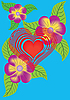 Heart and flowers | Stock Illustration
