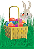 Vector clipart: Easter eggs.