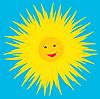 Vector clipart: Sun smiles