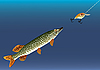 Vector clipart: Fishing for bait.