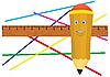 Vector clipart: Jolly pencil