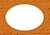 Vector clipart: oval frame