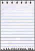 Vector clipart: Notebook sheet.
