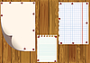 Vector clipart: Standard sheets on wooden boards