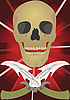 Vector clipart: Skull with the crossed knives