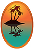 Vector clipart: Tropical island
