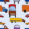 Vector clipart: seamless children`s drawings of cars