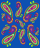 Vector clipart: simple paisley patterns