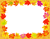 Vector clipart: Abstract frame with autumn maple leaves