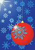 Vector clipart: Celebratory Christmas card