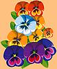 Vector clipart: Violet flowers.