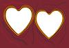 Vector clipart: Metal hearts.