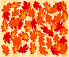 Vector clipart: Autumn maple leaves.