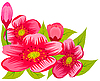 Vector clipart: Abstract pink flowers.