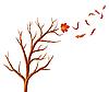 Vector clipart: Abstract autumn tree.
