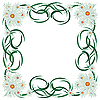 Vector clipart: Abstract floral frame