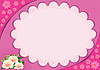 Vector clipart: Lace frame with pink flowers