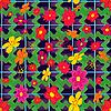 Векторный клипарт: Бесшовные цветы шаблон
