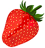 Vector clipart: Ripe red strawberry