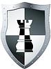 Metal shield chess piece | Stock Vector Graphics