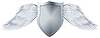 Vector clipart: Metal shield with wings