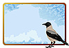 Vector clipart: Crow and frame
