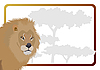 Vector clipart: Lion and frame