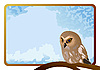 Vector clipart: Owl and frame