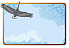 Vector clipart: frame with stork