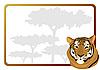 Vector clipart: Tiger frame