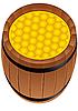 Vector clipart: barrel of honey