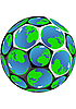 soccer ball of globes