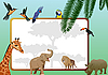 Vector clipart: Animals and birds